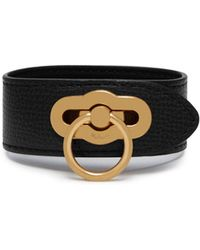 Mulberry - Amberley Bracelet In Black Cross Grain Leather - Lyst