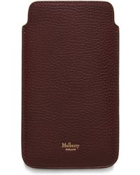 Mulberry - Iphone Plus Cover In Oxblood Natural Grain Leather - Lyst