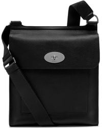 Mulberry - New Antony Messenger In Black Natural Grain Leather - Lyst