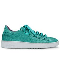 Mulberry - Jump Lace-up Trainer In Minty Green Glitter - Lyst