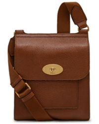 Mulberry - Small Antony In Oak Natural Grain Leather - Lyst