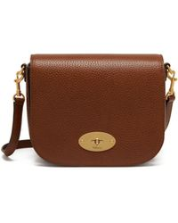 Mulberry - Small Darley Satchel In Oak Natural Grain Leather - Lyst