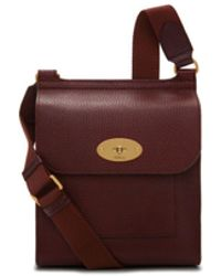 Mulberry - Small Antony In Oxblood Natural Grain Leather - Lyst