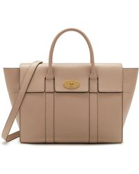 984f18d30f2 Mulberry - Bayswater With Strap In Rosewater Small Classic Grain - Lyst