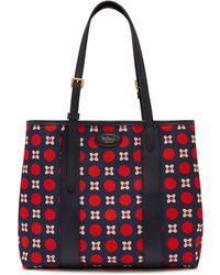 Mulberry - Small Bayswater Tote In Midnight Geo Floral Canvas And Silky Calf - Lyst