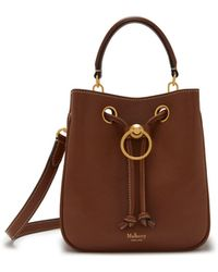 Mulberry - Small Hampstead In Tan Silky Calf - Lyst