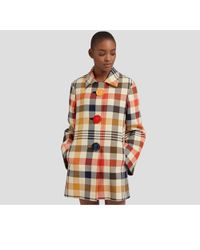 Mulberry - Renee Coat In Multicolour Paintbrush Check - Lyst
