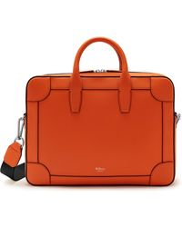 Mulberry - Belgrave Single Document Holder In Mandarin Orange Heavy Grain - Lyst