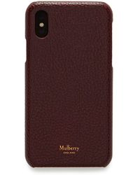 Mulberry - Iphone X/xs Cover In Oxblood Natural Grain Leather - Lyst
