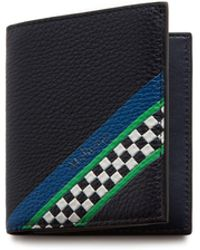 Mulberry - Trifold Wallet In Midnight Racing Stripes - Lyst
