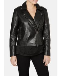 Muubaa - Healey Black Biker Jacket - Lyst