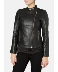 Muubaa - Delaney Black Biker Jacket - Lyst