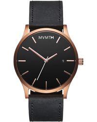 c7d41e2809 MVMT - Classic Rose Gold black Leather - Lyst