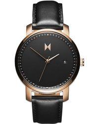 3019412d32 MVMT - Rose Gold black Leather - Lyst