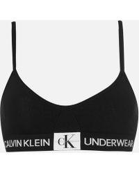 Calvin Klein - Triangle Monogram Bra - Lyst