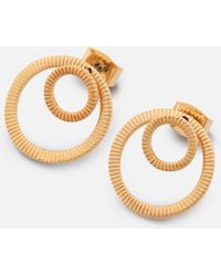 Whistles - Textured Double Circle Earrings - Lyst