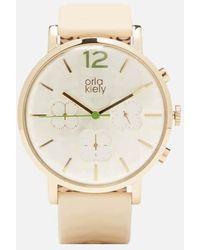 Orla Kiely - Frankie Leather Watch - Lyst