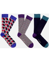 Ted Baker - Archway Three Pack Sock Gift Set - Lyst