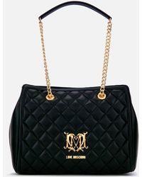 Love Moschino - Quilted Medium Tote Bag - Lyst