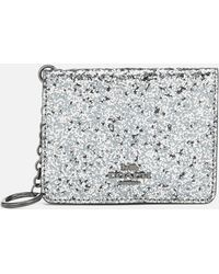 COACH - Glitter Key Ring Card Case - Lyst