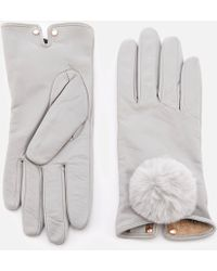 Ted Baker - Nacy Pom Pom Leather Gloves - Lyst