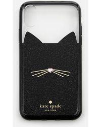Kate Spade - Jewelled Glitter Cat Phone Cover - Lyst