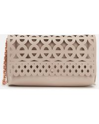 ef76d2dd10721 Lyst - Ted Baker Bree Cut Out Bow Clutch Bag in Pink
