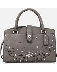COACH - Mercer Satchel 24 With Star Rivets - Lyst