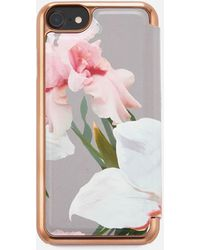Ted Baker - Rosamon Chatsworth Bloom Mirror Iphone Case - Lyst