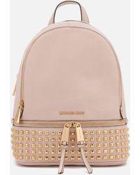 MICHAEL Michael Kors - Rhea Zip Medium Stud Backpack - Lyst