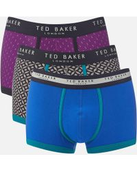 Ted Baker - Matches 3 Pack Boxer Shorts - Lyst