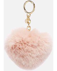 MICHAEL Michael Kors - Pom Pom Heart Key Ring - Lyst
