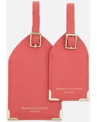 Aspinal - Set Of Two Luggage Tags - Lyst