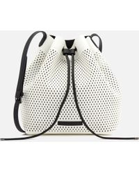 Armani Exchange - Perforated Bucket Bag - Lyst