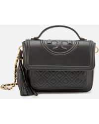 70ff0cf6faba Lyst - Tory Burch Fleming Quilted Leather Medium Bag