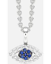 Missoma - Silver Evil Eye Necklace - Lyst