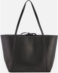 e44e88c94fd Lyst - Armani Exchange Women s Black Polyester Tote in Black