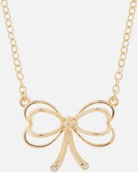 Ted Baker - Small Heart Bow Pendant - Lyst