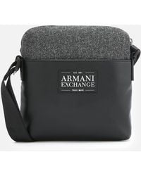 ca1d9d496df6 Lyst - Armani Exchange Ax All Over Logo Cross Body Bag in Blue for Men