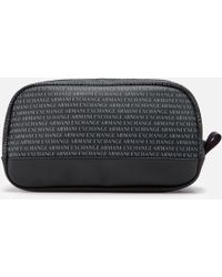 Armani Exchange - All Over Print Wash Bag - Lyst