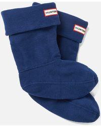 HUNTER Short Boot Socks - Blue