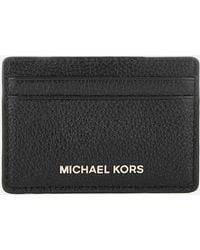 MICHAEL Michael Kors - Money Pieces Card Holder In Black Calfskin - Lyst