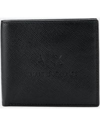 Armani Exchange - Ax Logo Bifold Wallet With Credit Card Holder - Lyst