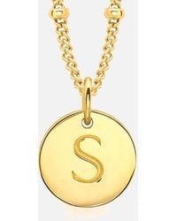 Missoma - Initial Charm Necklace - Lyst