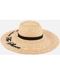 Ted Baker - Albizia Script Embroidered Floppy Hat - Lyst