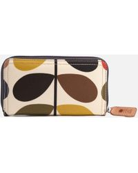 Orla Kiely - Stem Big Zip Wallet - Lyst