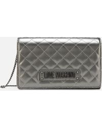 69d23076aee Love Moschino Charming Shoulder Bag in Green - Lyst