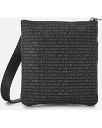 ffcb953cf3 Lyst - Armani Jeans Nylon Flight Bag With All Over Logo Print in ...