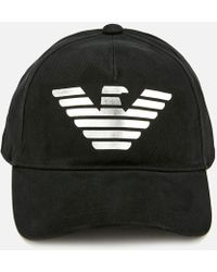 Emporio Armani - Logo Print Baseball Cap - Lyst
