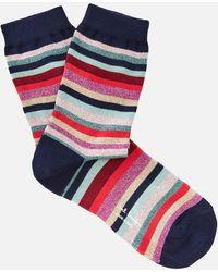 Paul Smith - Lurex Stripe Clarissa Socks - Lyst